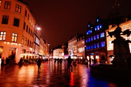 Copenhagen at nighttime