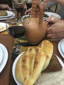 lavash, bread and wine