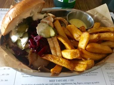 Pork belly sandwich at Bistro Royal