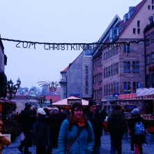 Hazy day for the Christkindlemarkt