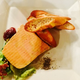 Foie gras before dinner