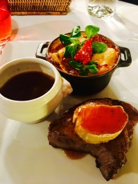Foie gras on top of my steak!