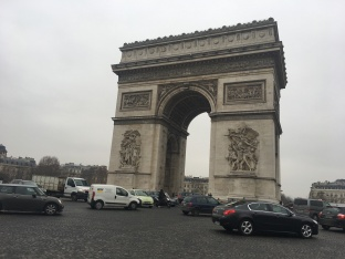 Probably not the best pic of the Arc de Triomphe
